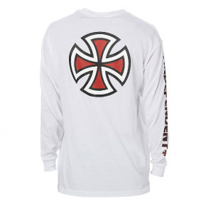 Go to the product T-shirt Independent Bar Cross L/s white 2018