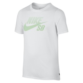 Go to the product T-shirt Nike SB Boys Logo white/fresh mint 2017