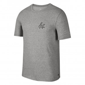Go to the product T-shirt Nike SB Dry DFC Swooshie dk grey heather/black 2018