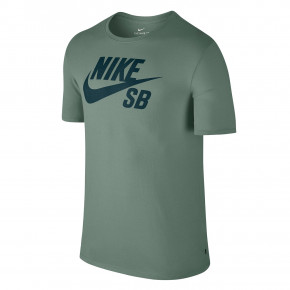 Go to the product T-shirt Nike SB Logo clay green/deep jungle 2018