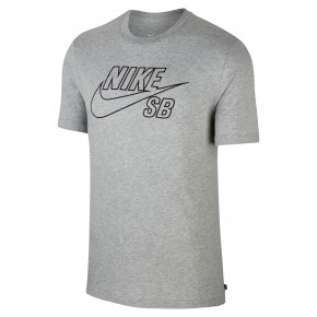 Go to the product T-shirt Nike SB Logo Emb dk grey heather/black 2020