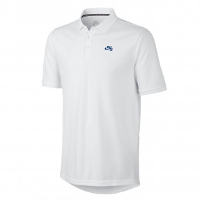 Go to the product T-shirt Nike SB Pique Polo white/hyper royal 2018
