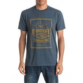 Přejít na produkt Tričko Quiksilver Heather Double Lines dark denim heather 2017