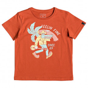 Go to the product T-shirt Quiksilver Lator Gator Boy burnt brick 2019