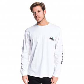 Go to the product T-shirt Quiksilver Omni Logo Classic Ls white 2019
