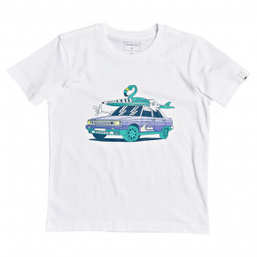 Go to the product T-shirt Quiksilver Rad Digital Time Boy white 2020