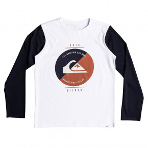 Go to the product T-shirt Quiksilver Shook Up LS Youth white 2018