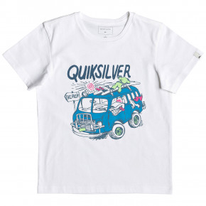 Go to the product T-shirt Quiksilver Wolf Riding Boy white 2019