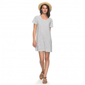 Go to the product Roxy Just Simple Tee Dress Stripe dress blue just simple stripe 2018