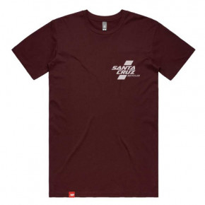 Go to the product T-shirt Santa Cruz Parallel burgundy 2020