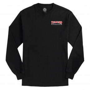 Go to the product T-shirt Thrasher Embroidered Outlined Ls black 2019