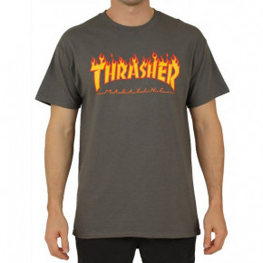 Go to the product T-shirt Thrasher Flame charcoal 2020