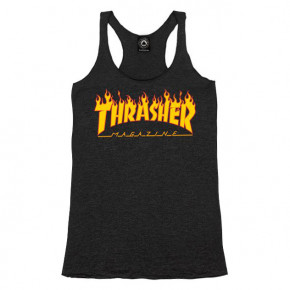 Go to the product T-shirt Thrasher Flame Logo Racerback black 2019