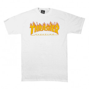 Go to the product T-shirt Thrasher Flame Logo white 2018