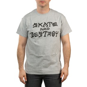 Go to the product T-shirt Thrasher Skate And Destroy grey 2017