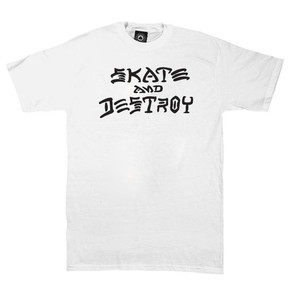 Go to the product T-shirt Thrasher Skate & Destroy white 2018