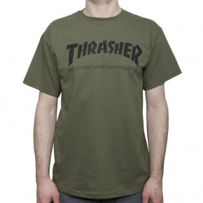 Go to the product T-shirt Thrasher Skate Mag army green 2020