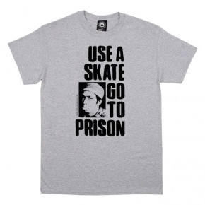 Go to the product T-shirt Thrasher Use A Skate Go To Prison grey 2019