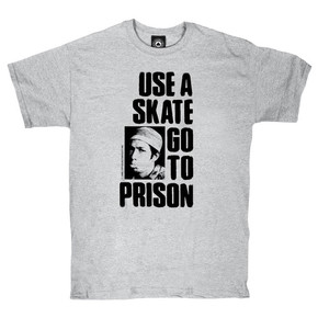 Go to the product T-shirt Thrasher Use A Skate Go To Prison grey 2017