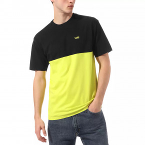 Go to the product T-shirt Vans Colorblock sulphur spring/black 2020