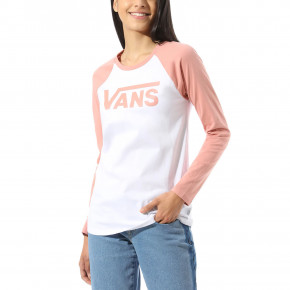 Go to the product T-shirt Vans Flying V Ls Raglan white/rose dawn 2020