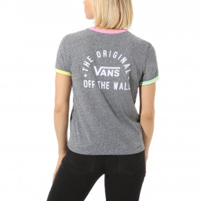 Go to the product T-shirt Vans Rally Bell grey heather/fuchsia pink 2020