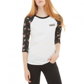 Go to the product T-shirt Vans Satin Floral Raglan black/satin floral 2019