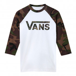 Go to the product T-shirt Vans Vans Classic Raglan Boys white/camo 2019