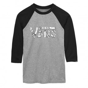 Przejść do produktu Koszulka Vans Vans Focus Raglan Boys heather grey/black 2018
