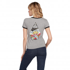 Go to the product T-shirt Volcom Go Faster Ringer heather grey 2020