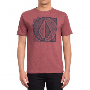 Go to the product T-shirt Volcom Stamp Divide Hth Ss crimson 2019