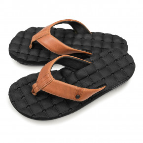 Go to the product Flip-Flops Volcom Recliner Leather brown stone 2019