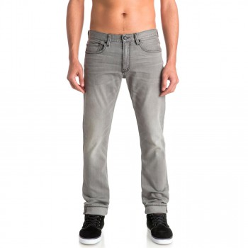 Jeansy Quiksilver Distorsion Grey Damaged