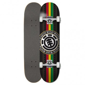 Skateboard Element Rasta Black Seal 8