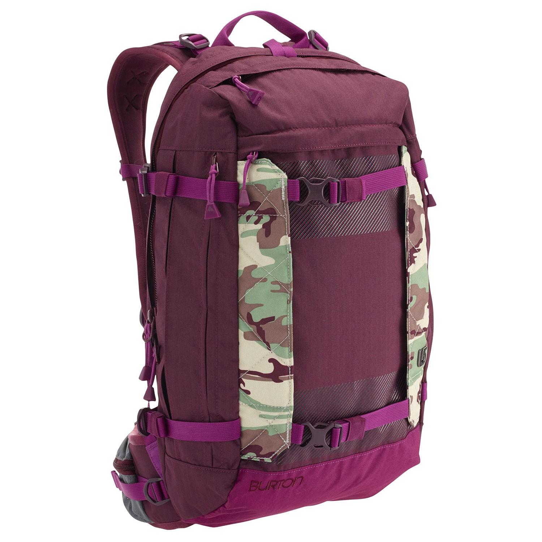 Snowboard backpack Burton Wms Riders 22L frog camo ...