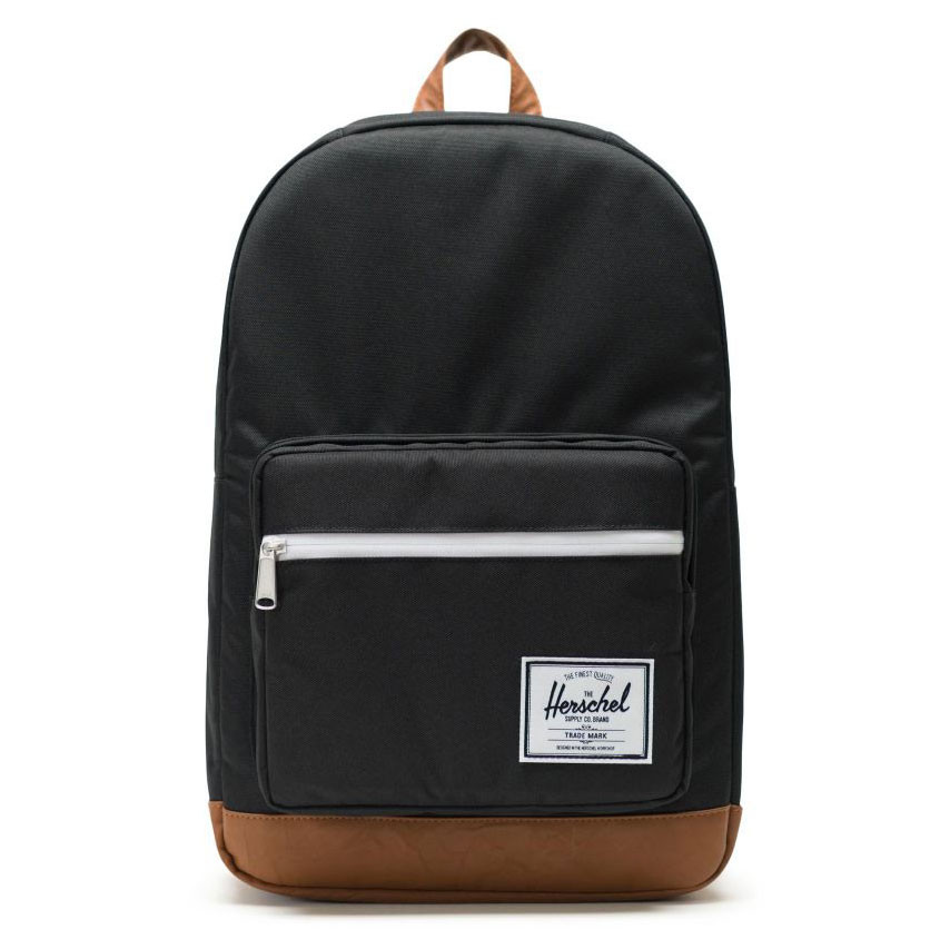 acabada6440 Backpack Herschel Pop Quiz black tan synthetic leather