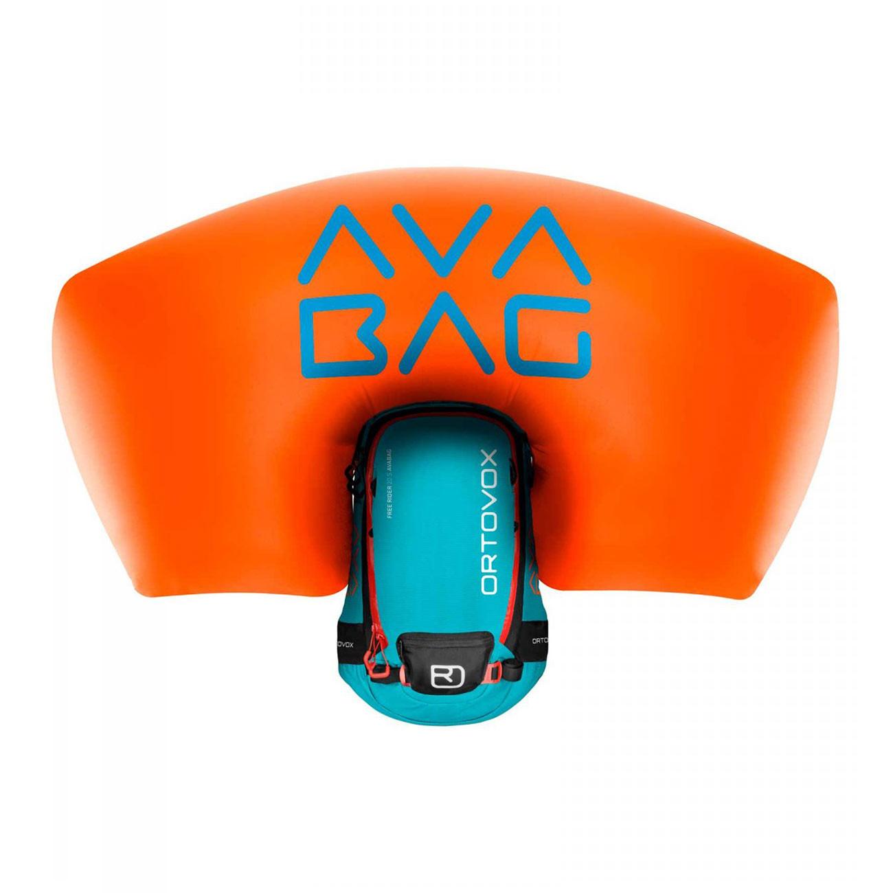 Batoh na snowboard Ortovox Free Rider 20 Avabag aqua