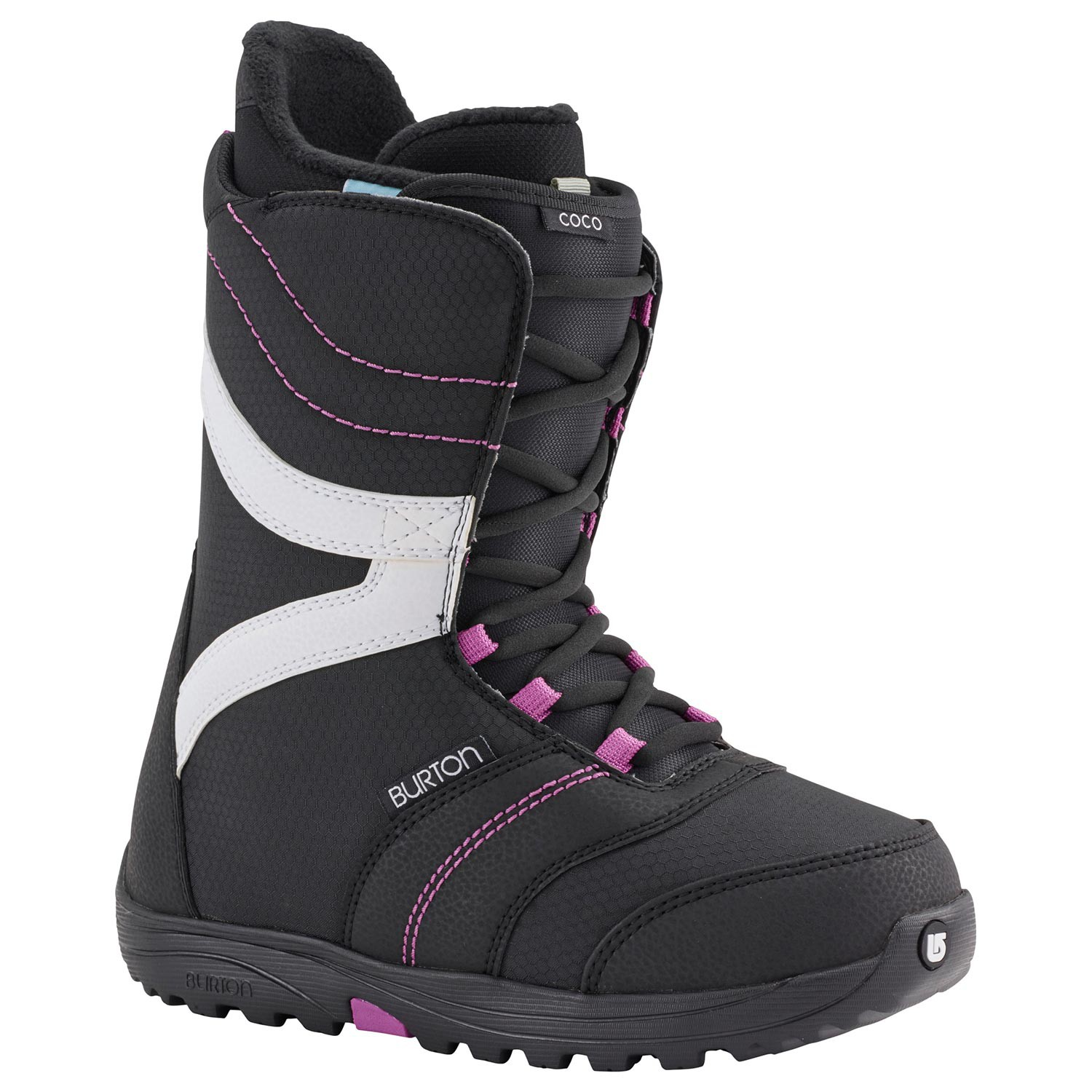 Boty Burton Coco black/purple