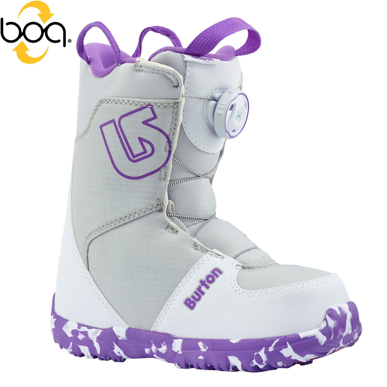 Boty Burton Grom Boa white/purple