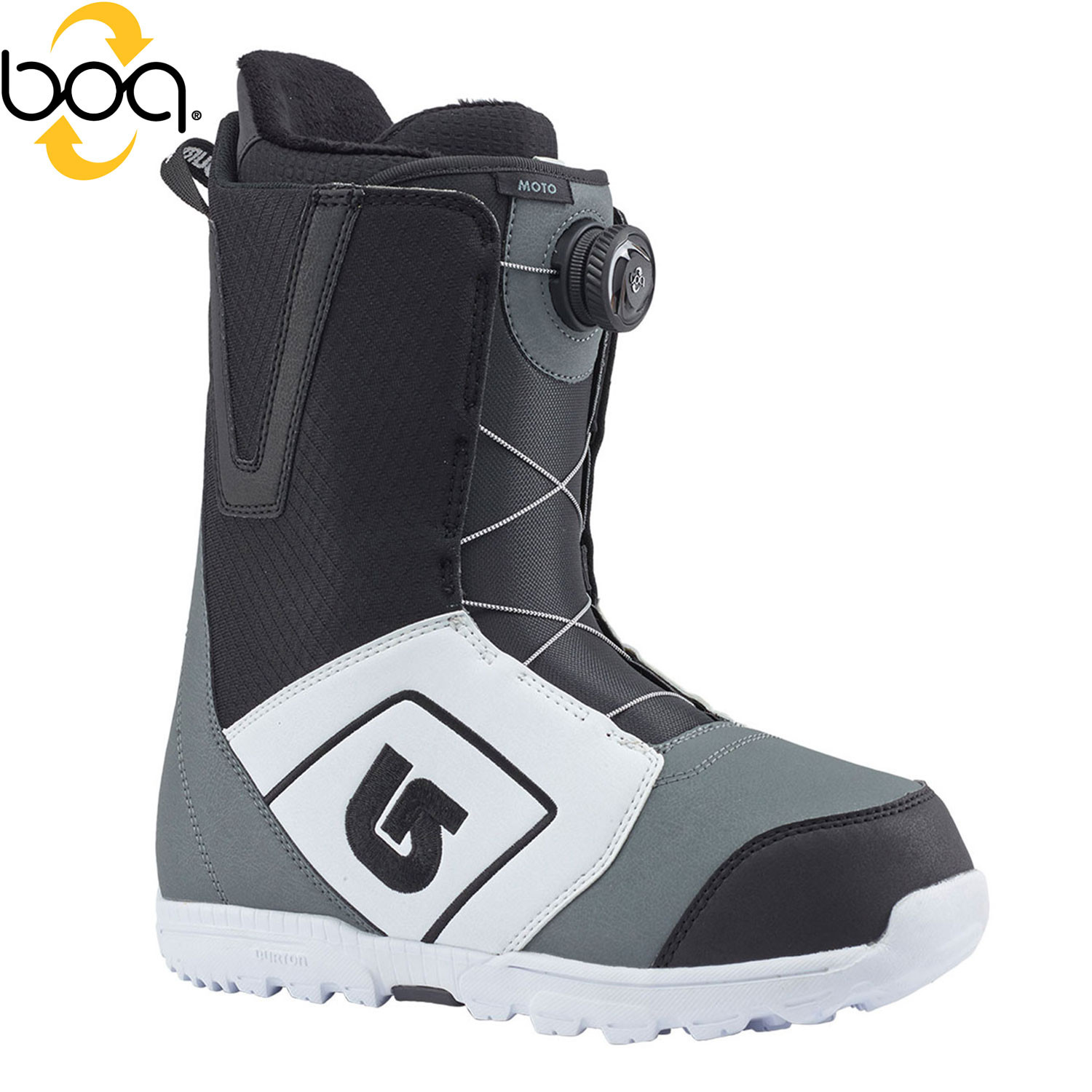 Boty Burton Moto Boa white/black/grey
