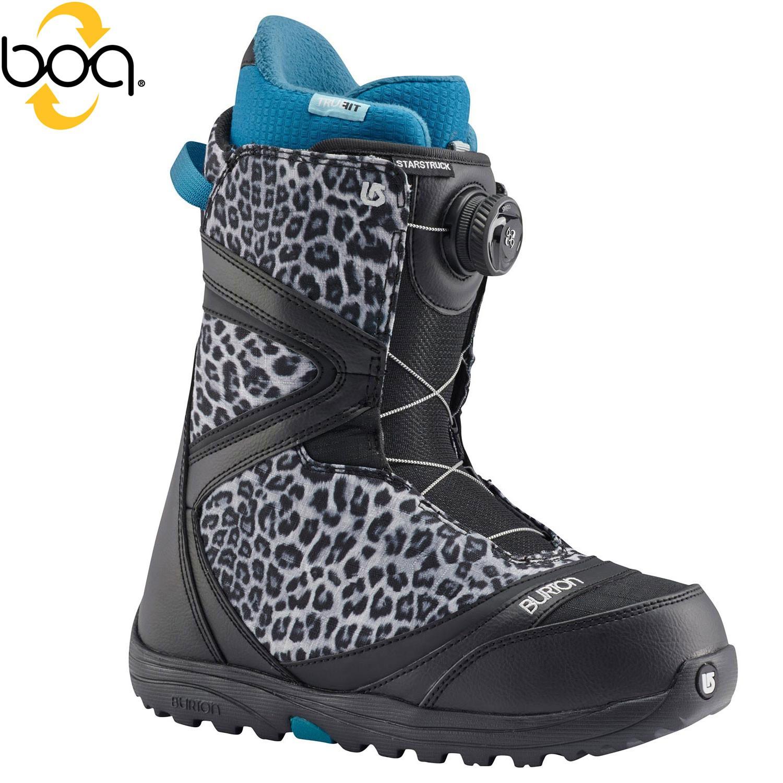 Boty Burton Starstruck Boa black/snow leopard