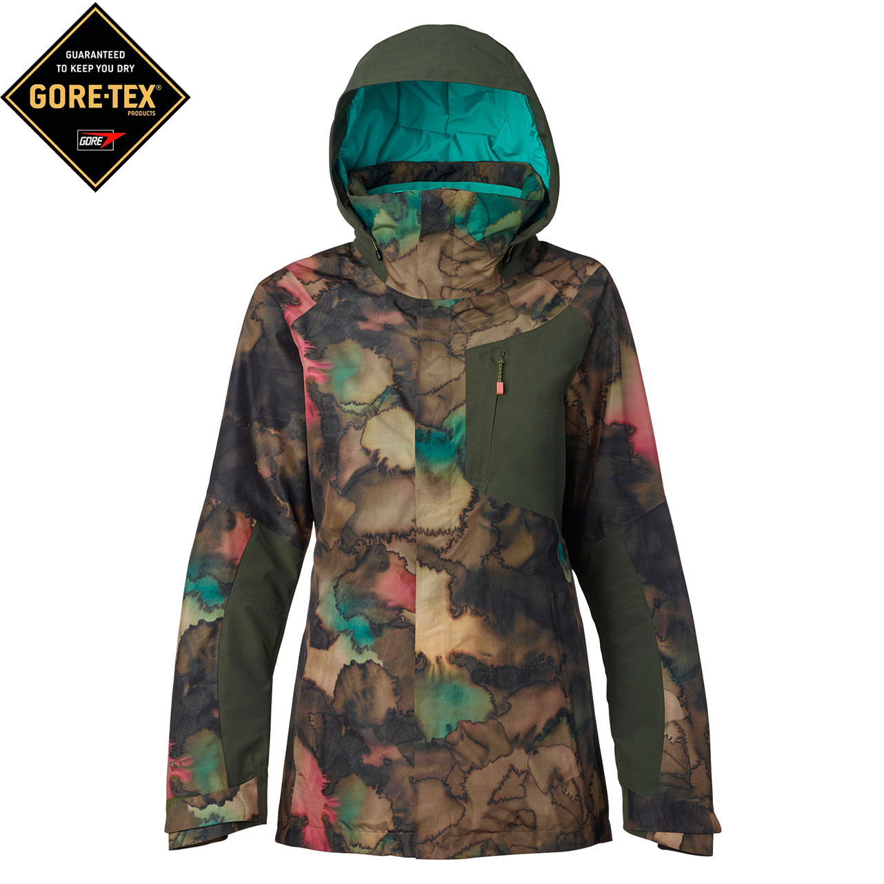 Bunda Burton Ak 2L Embark tea camo/forest night