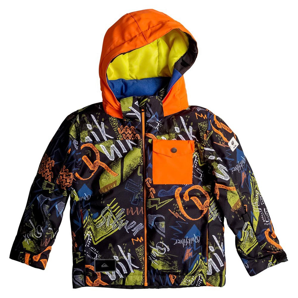 Bunda Quiksilver Little Mission Kids black thunderbolt kids