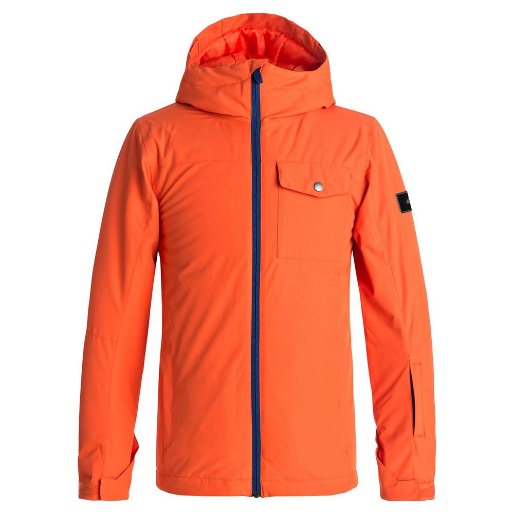 Bunda Quiksilver Mission Solid Youth mandarin red