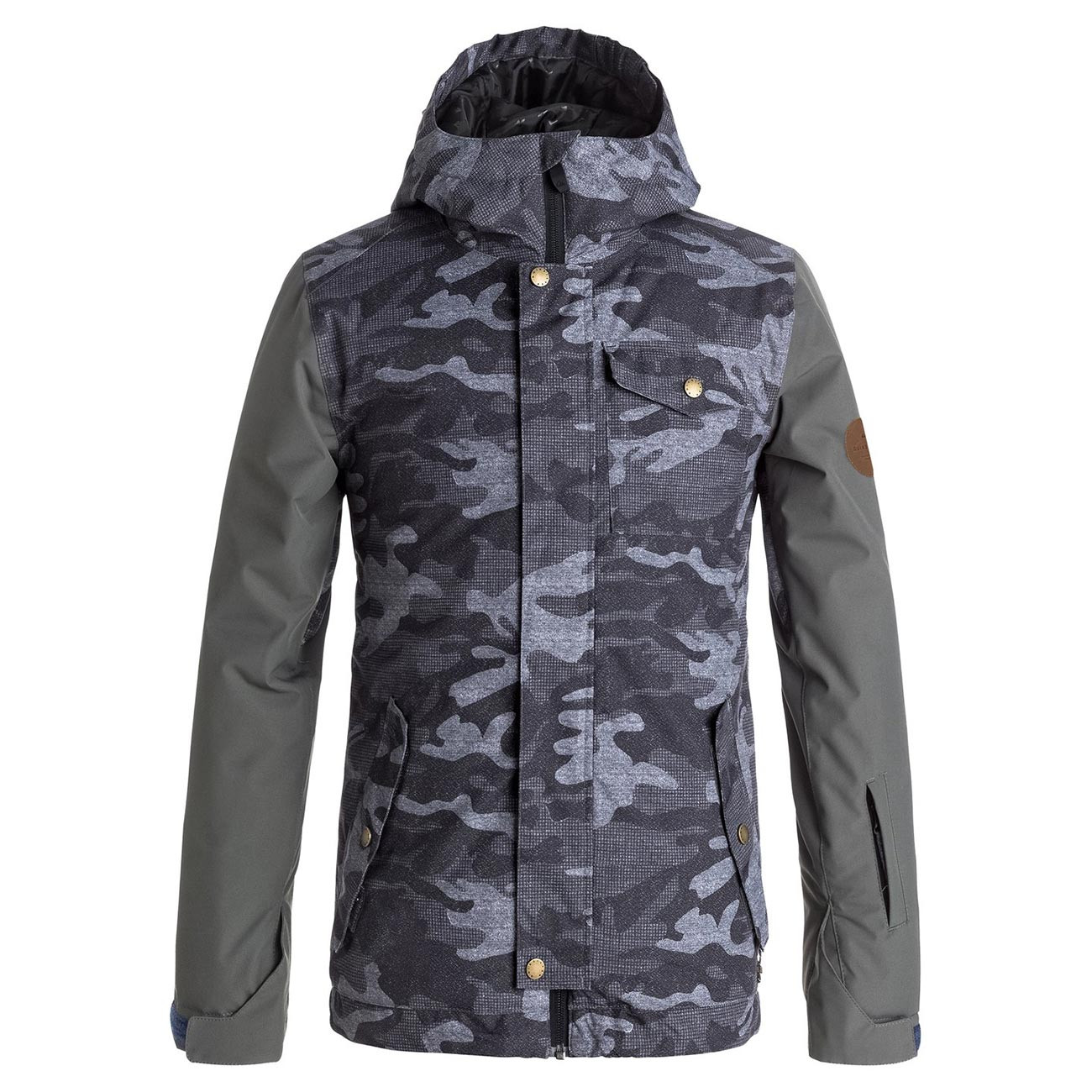 Bunda Quiksilver Ridge Youth black grey camokazi