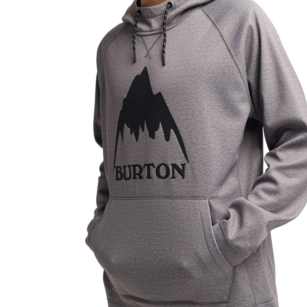 b54d3d6c56 Technická mikina Burton Crown Bonded Pullover grey heather ...