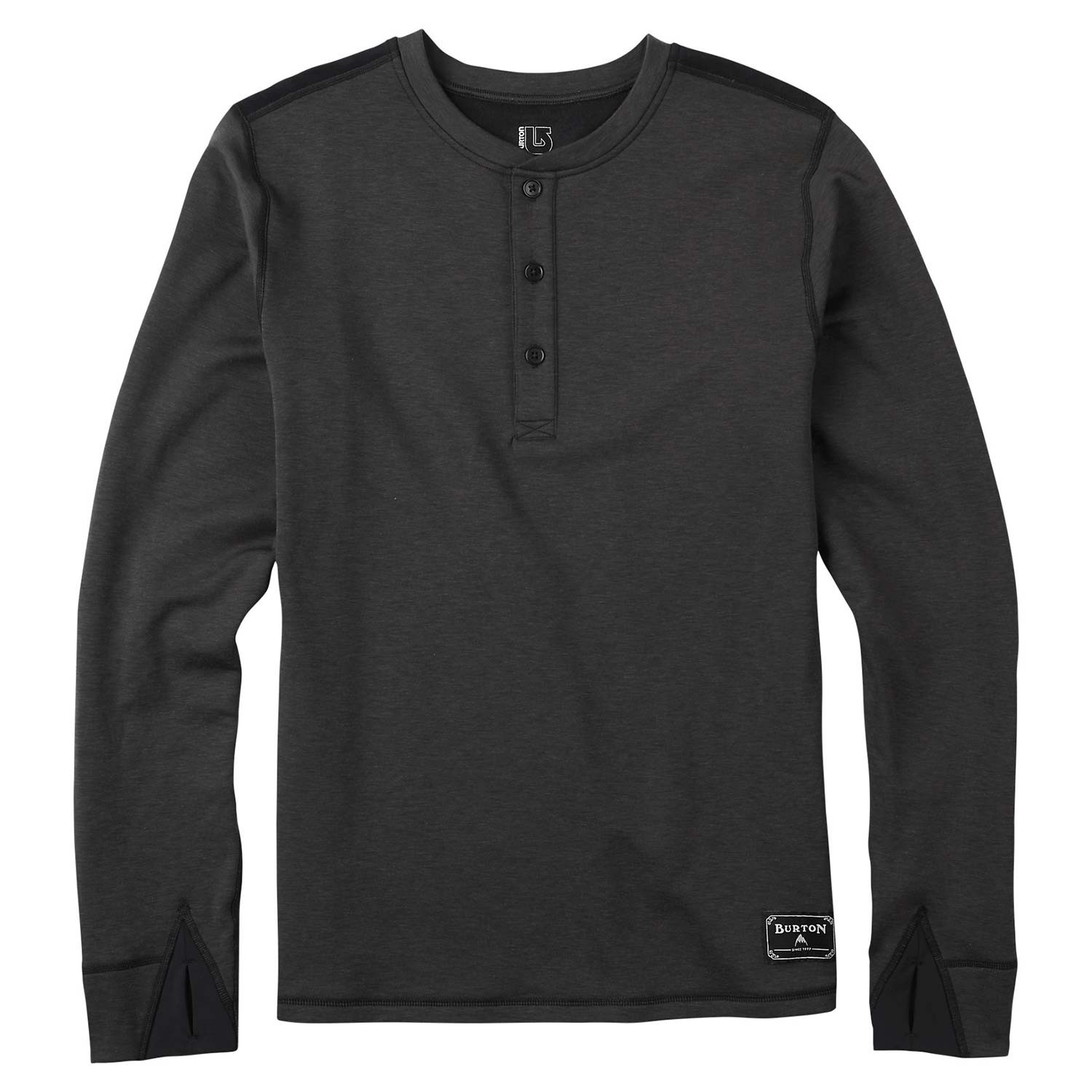 Triko Burton Expedition Wool Henley true black heather