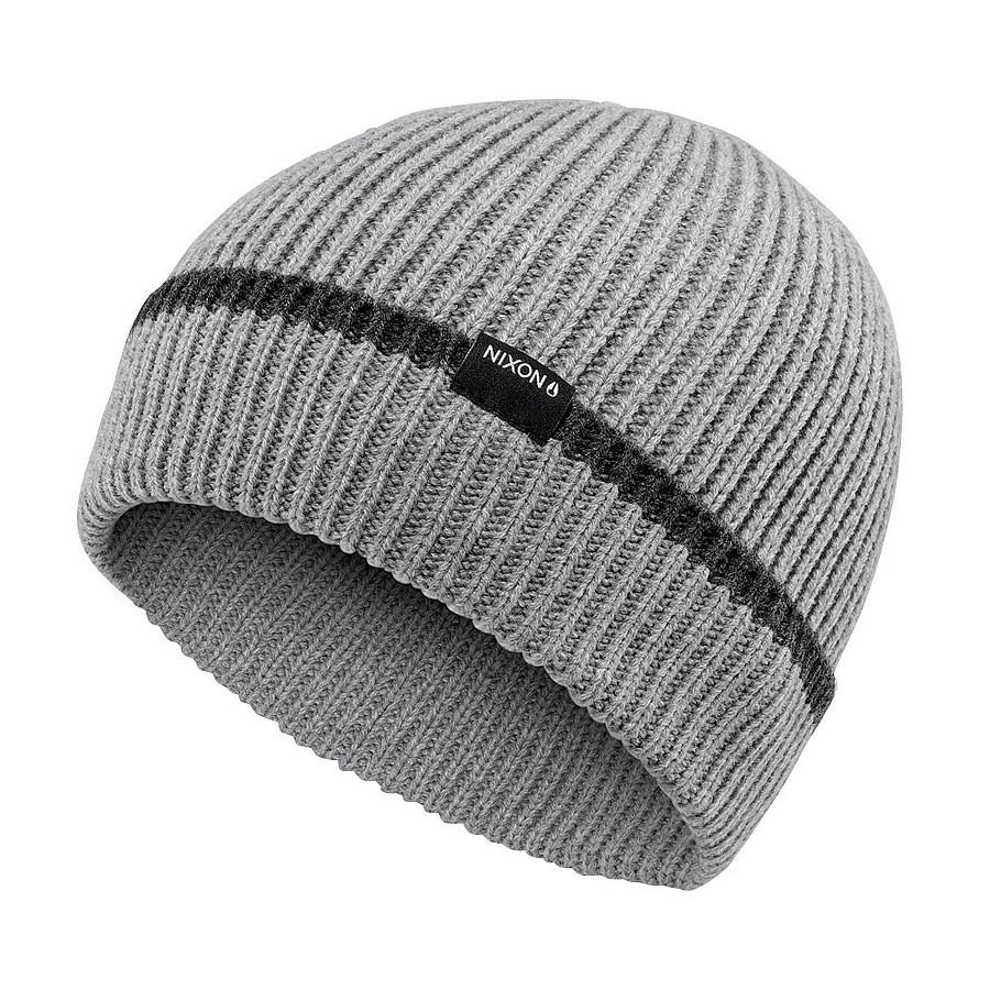 1794ffe43ac86 Beanies Nixon Regain heather grey stripe