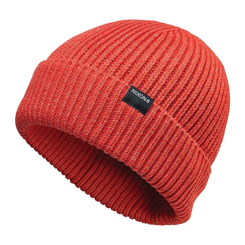 Zimní čepice Nixon Regain red pepper