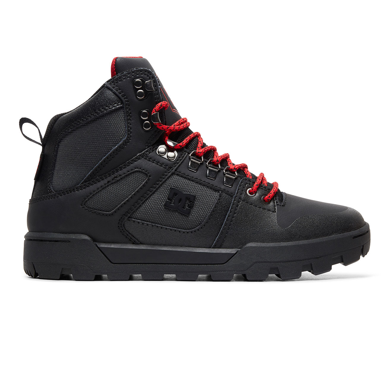 Zimní boty DC Pure High-Top WR black grey red  5b2be04a3a
